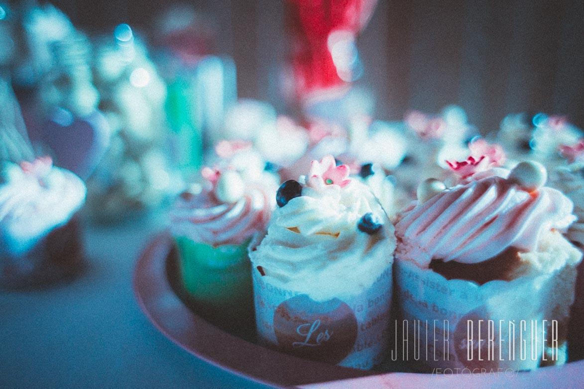 mesa de cupcakes para bodas
