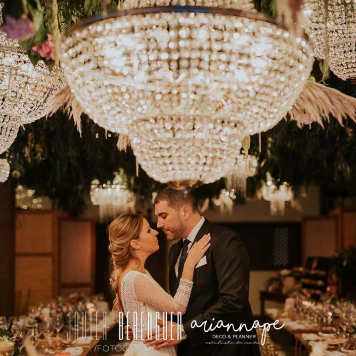 Lamparas de cristal para tu boda